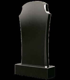 Фигурный гранитный памятник с фасками снизу