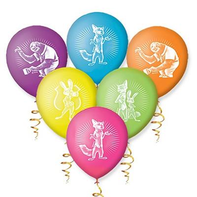 Гелиевые шарики Зверополис