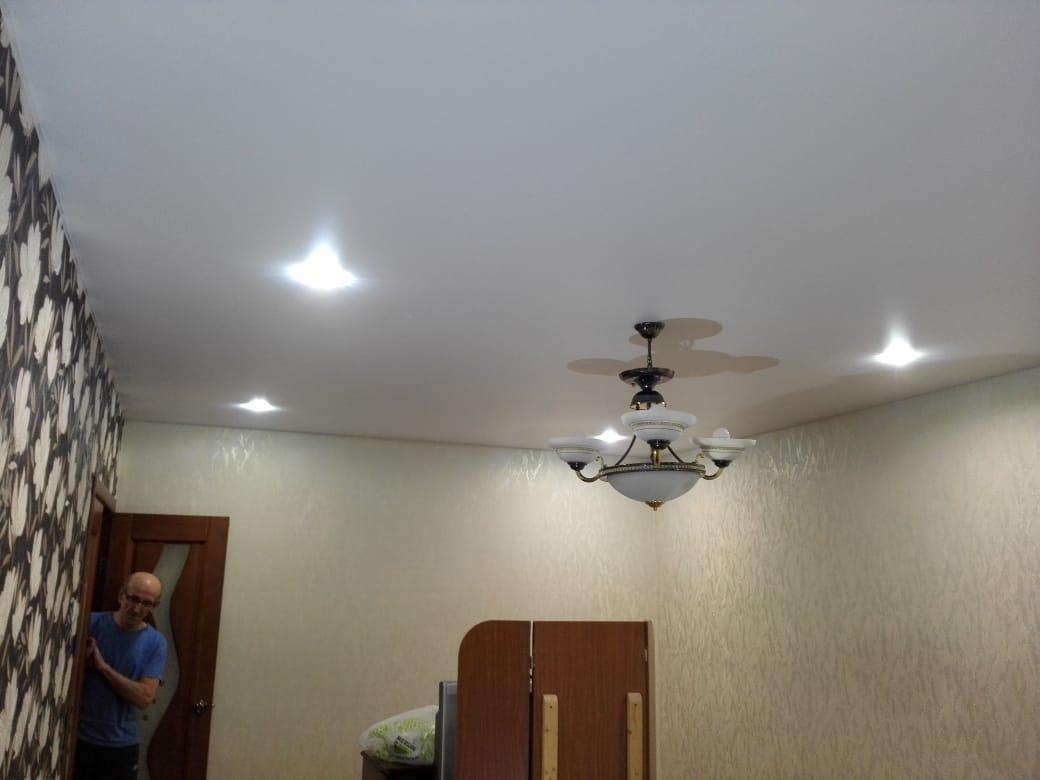 Матовый натяжной потолок г. Химки пр-т Мельникова