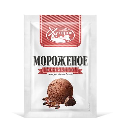 Картинка Мороженое БАБУШКИН ХУТОРОК шоколадное