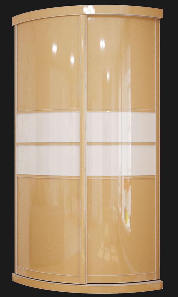 Выгнутый радиусный шкаф M-3 шампань
