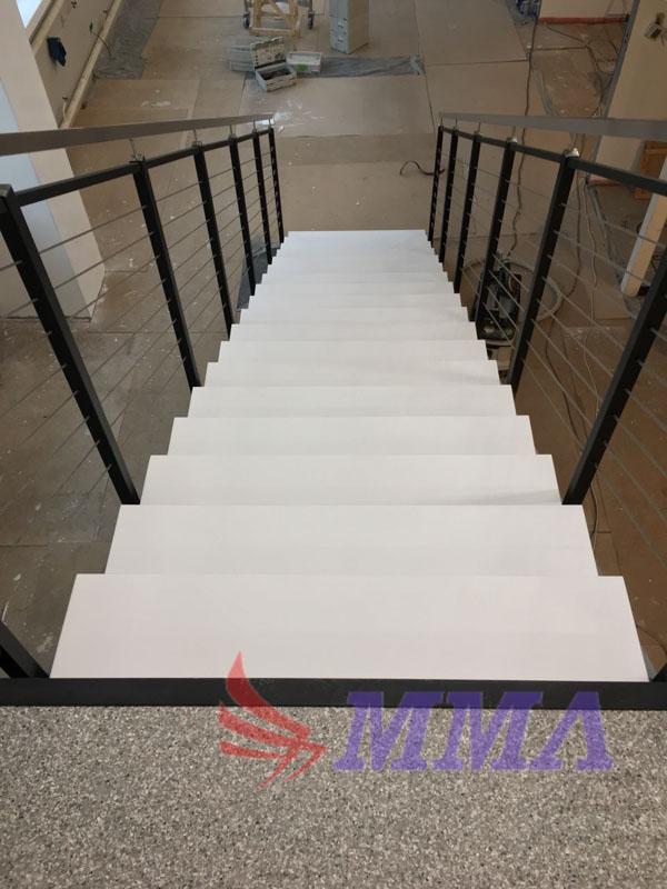 лестница, ступени, камень, композит, , белый,