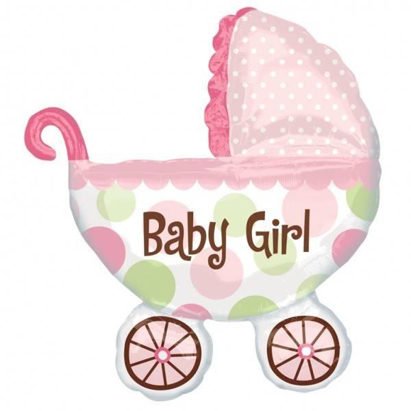 коляска на выписку девочки
