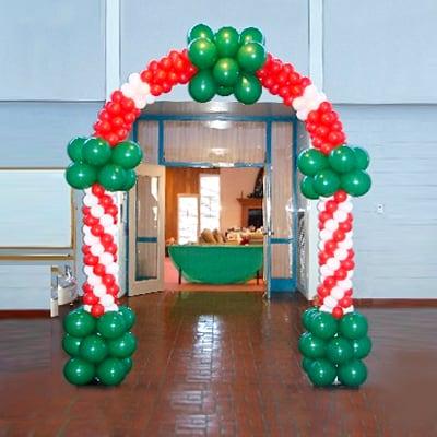 Новогодняя арка на стойках