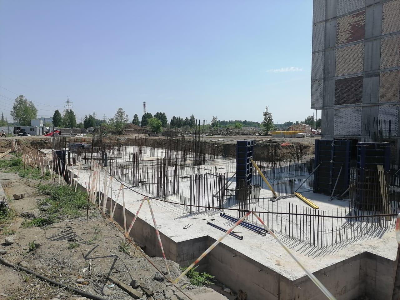 Ход строительства дом №1