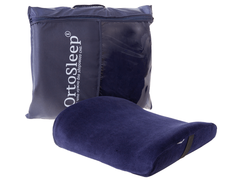 Ортопедическая подушка под спину в красивой удобной упаковке ортослип