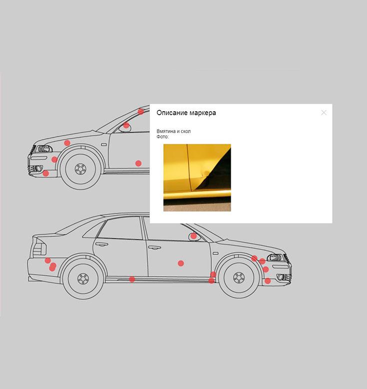 Учет повреждений автомобиля