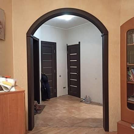 Дверная арка в цвете венге