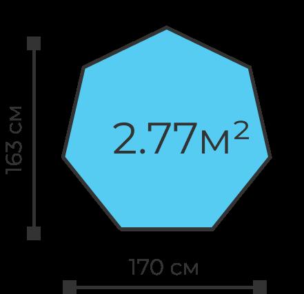 Детский складной манеж высота 73 см, ширина 170 см, 2.77 квадратных метра доставка по Москве и РФ