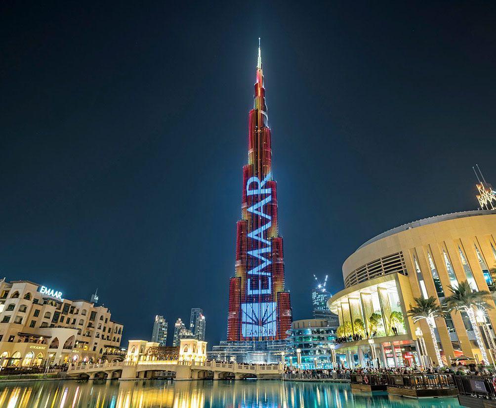 Emaar Burj Khalifa Skyscrapper in Downtown Dubai