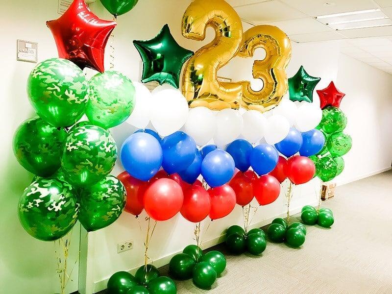 Набор из шаров на 23 февраля №19