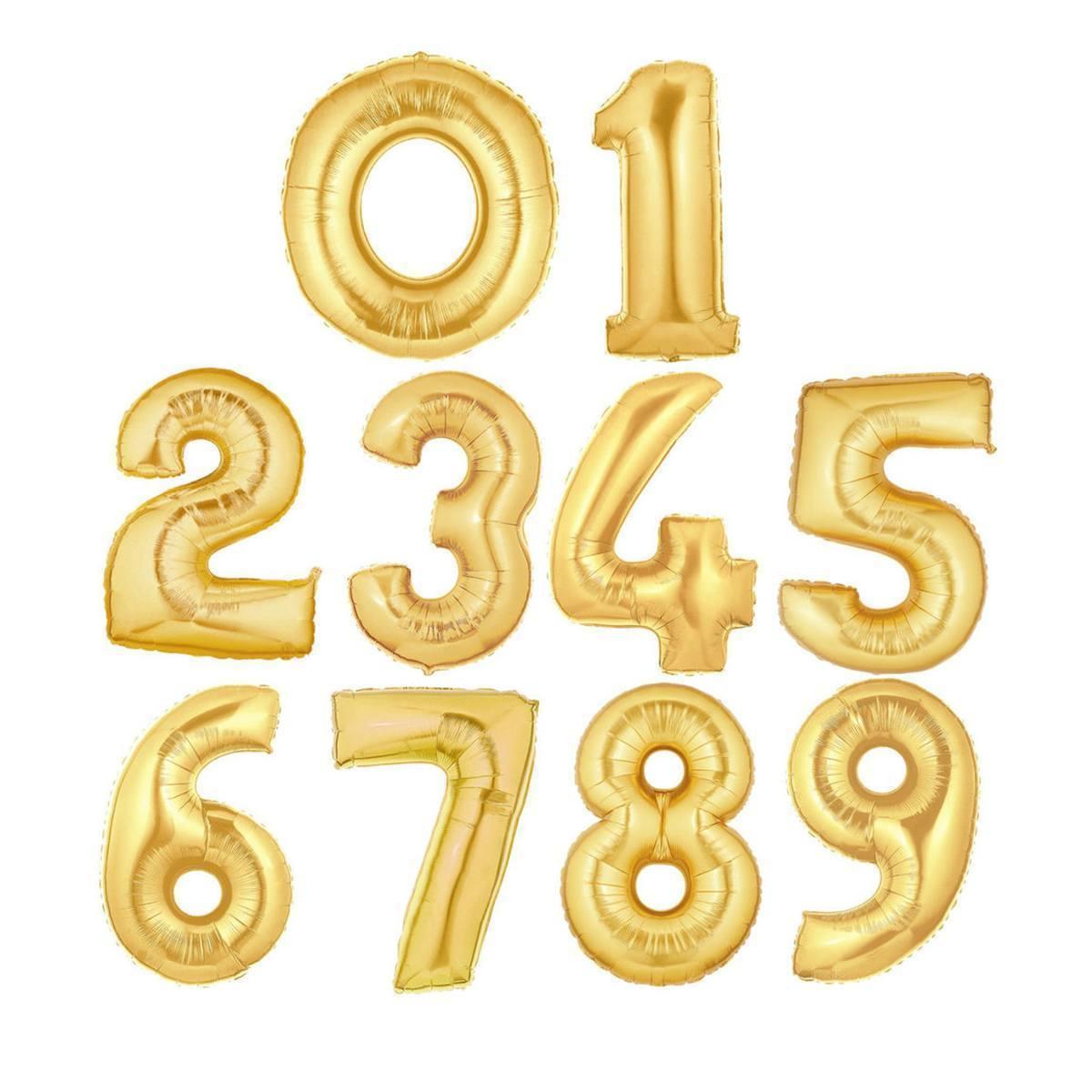 Фольгированный шар цифрой от 0 до 9