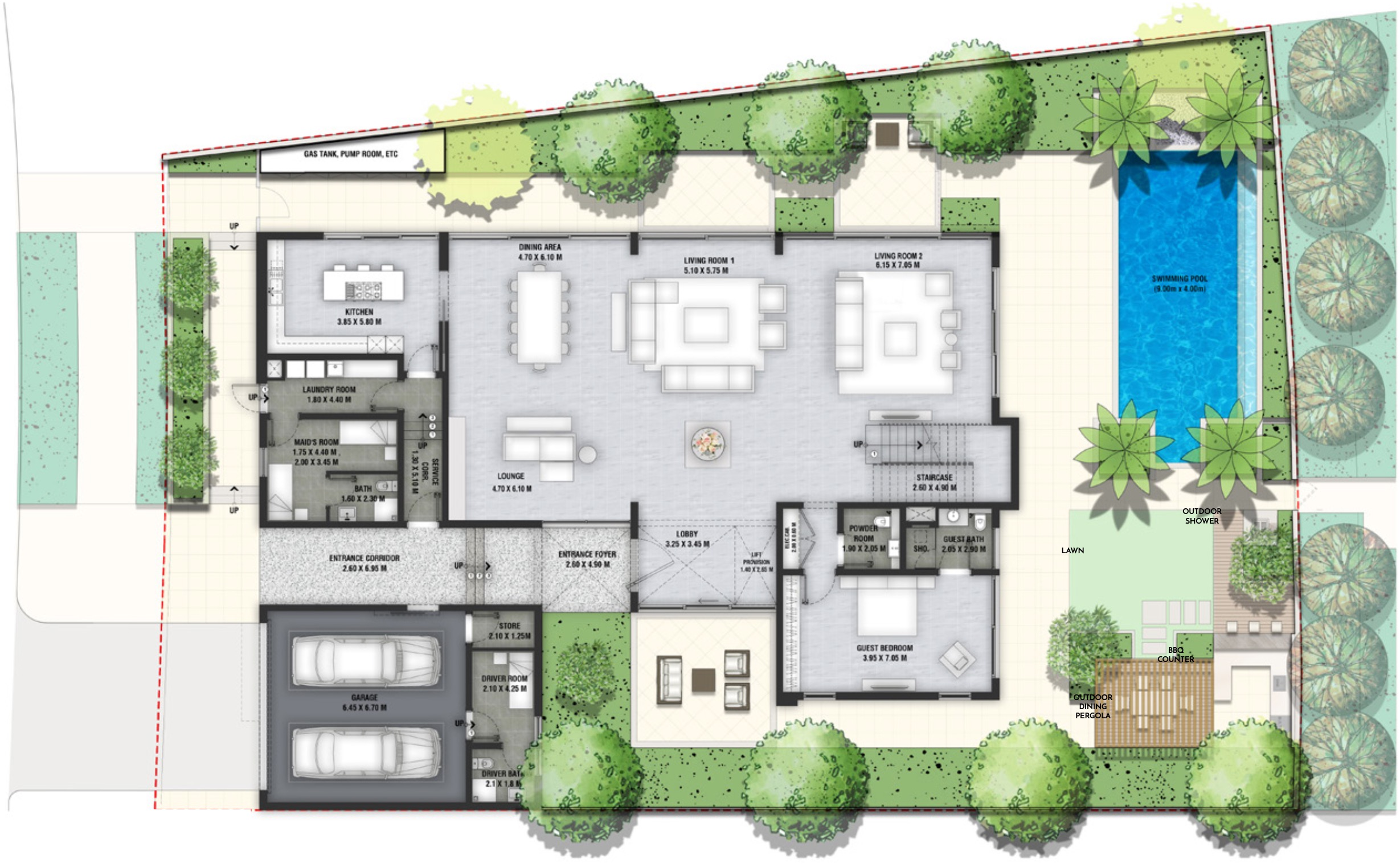 Al Barari The Nest Villas Floor Plans