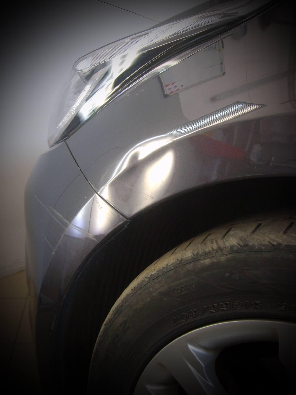 Вмятина на Kia Ceed до ремонта
