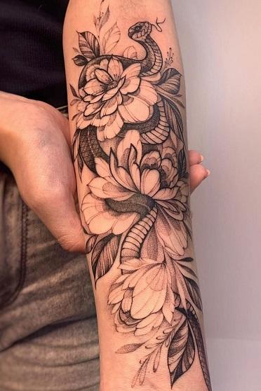 татуировка фотография эскиз на руке череп