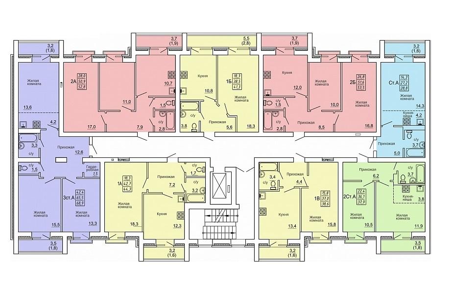 План этажа ЖК Свобода д.10 фото
