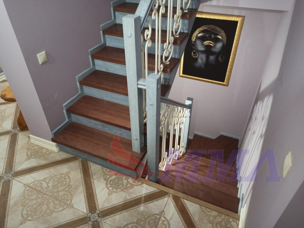 лестница, перила, ковка, красивая,