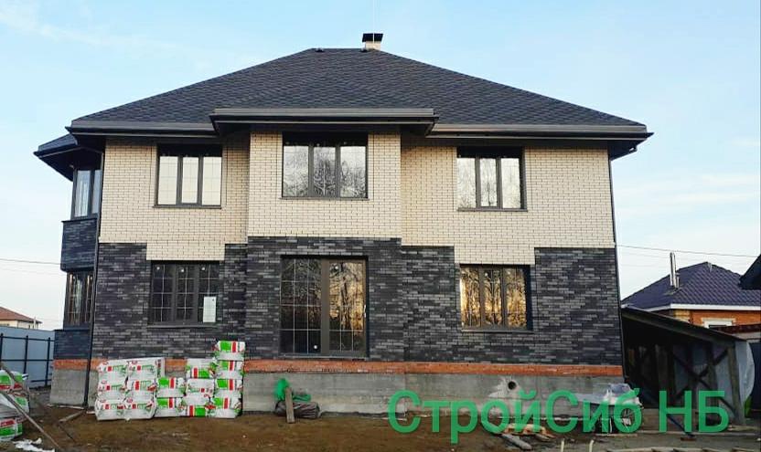 Строительство домов из сибита и облицовочного кирпича СтройСиб НБ