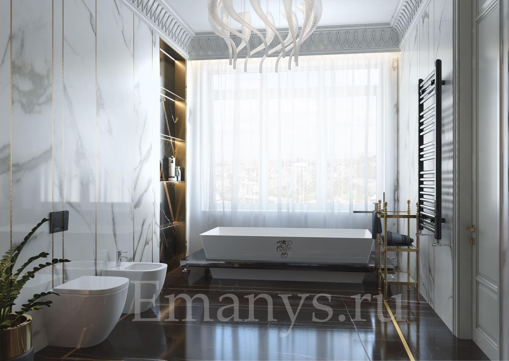 Интерьер ванная Emanys