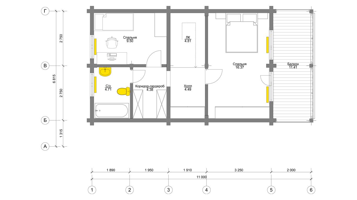План второго этажа Ingolstadt 1.0 (Дом Ингольштадт 1.0)