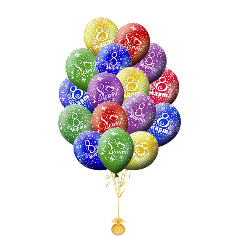 Сет из 15 шаров  с 8 марта