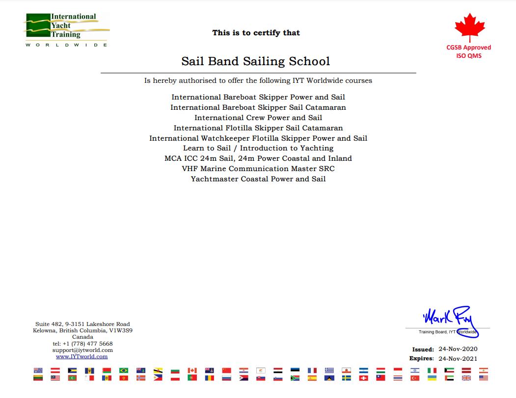 Лицензия яхтенной школы фото