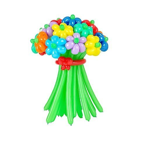 Корзина из шаров с цветами № 3