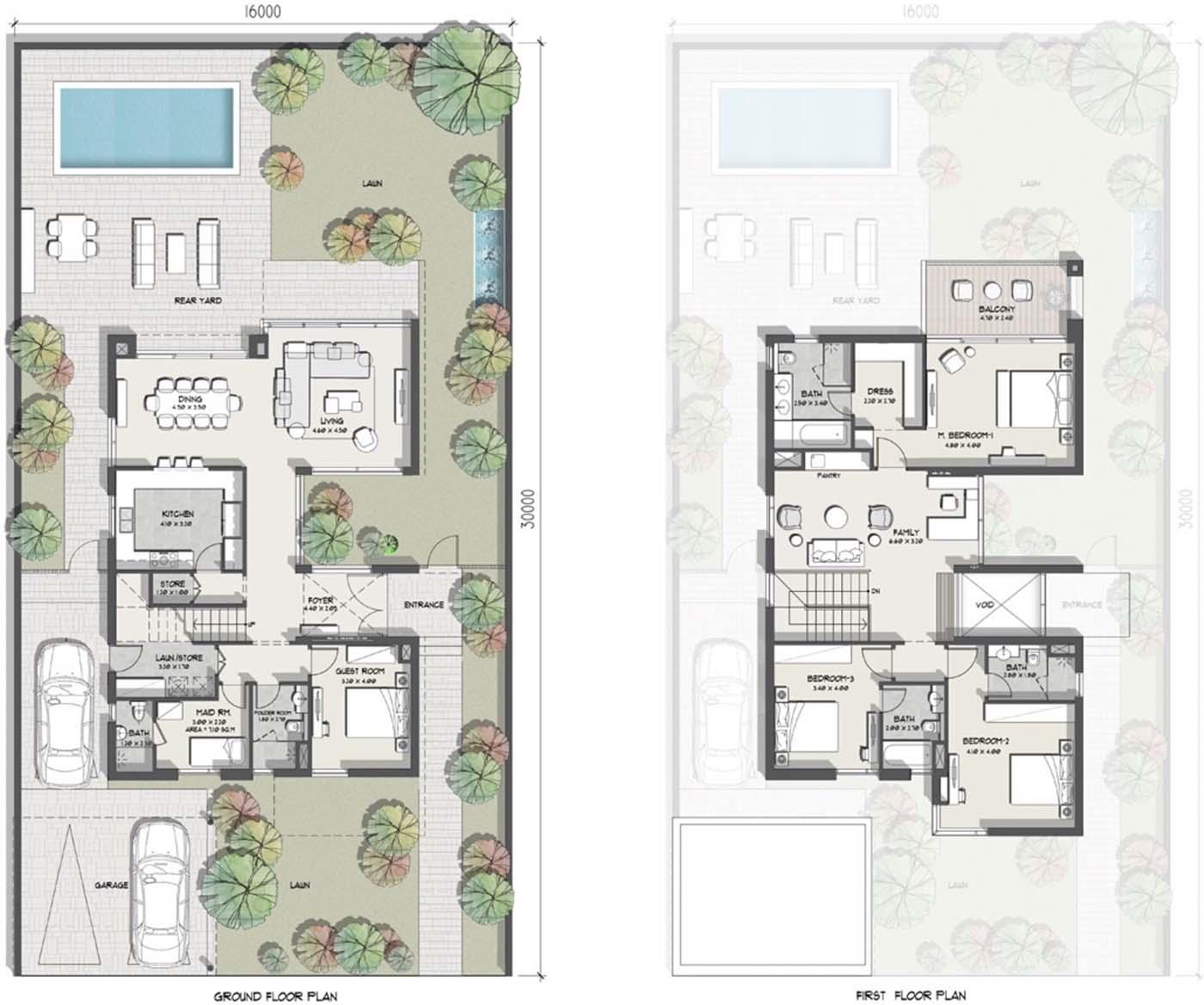 فلل فخمة مستقلة ٤ و ٥ غرف نوم
