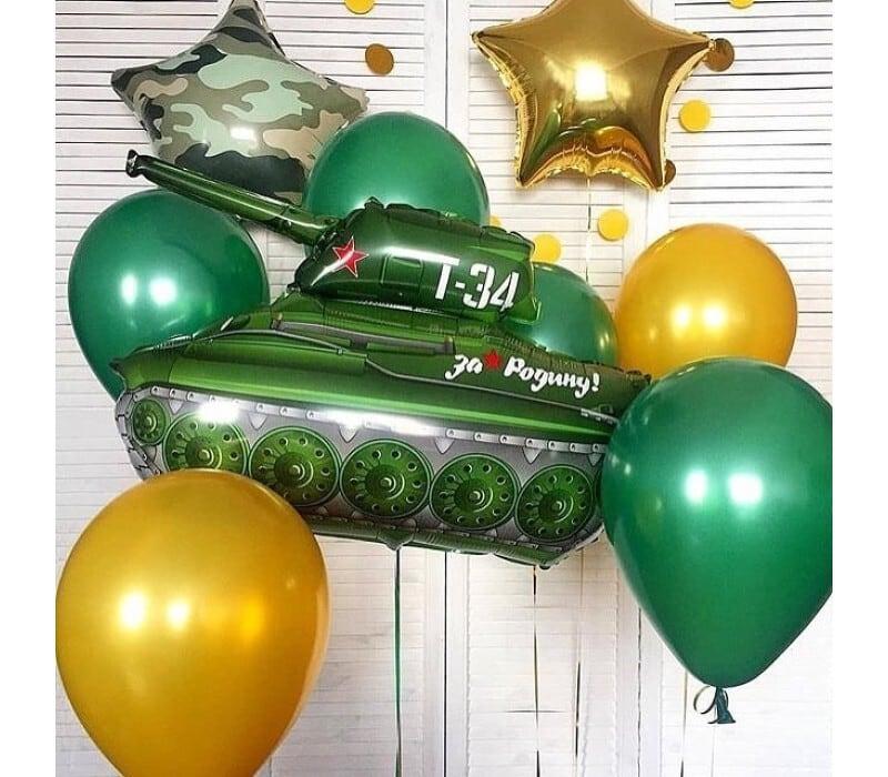 Набор из шаров на 23 февраля №21