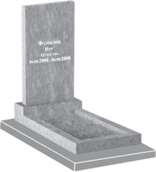 Прямой мраморный памятник без портрета