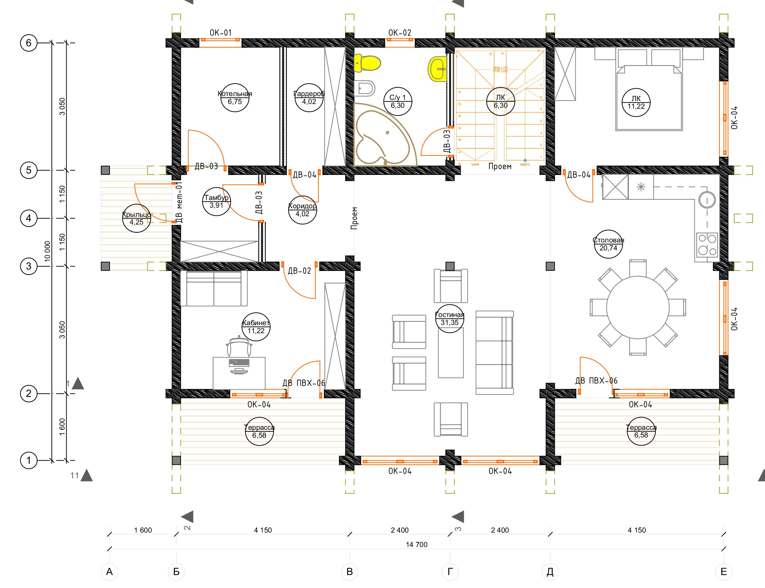 План первого этажа Berlin (Дом Берлин)