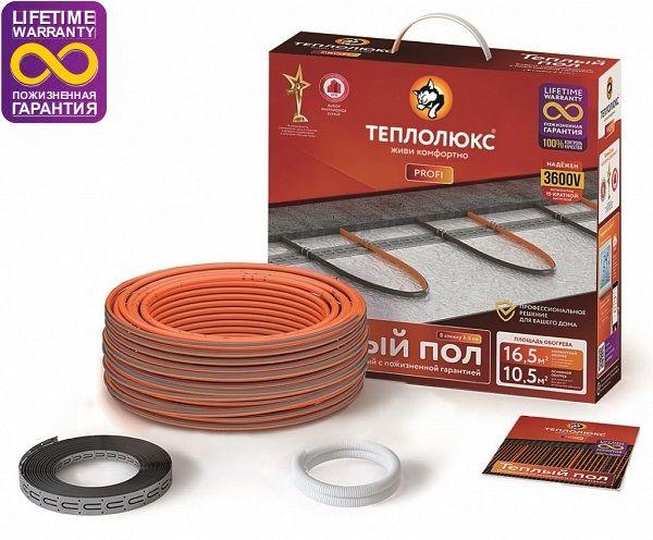 Нагревательный кабель Profi Roll Теплолюкс - на 9,5м2 и 180Вт.