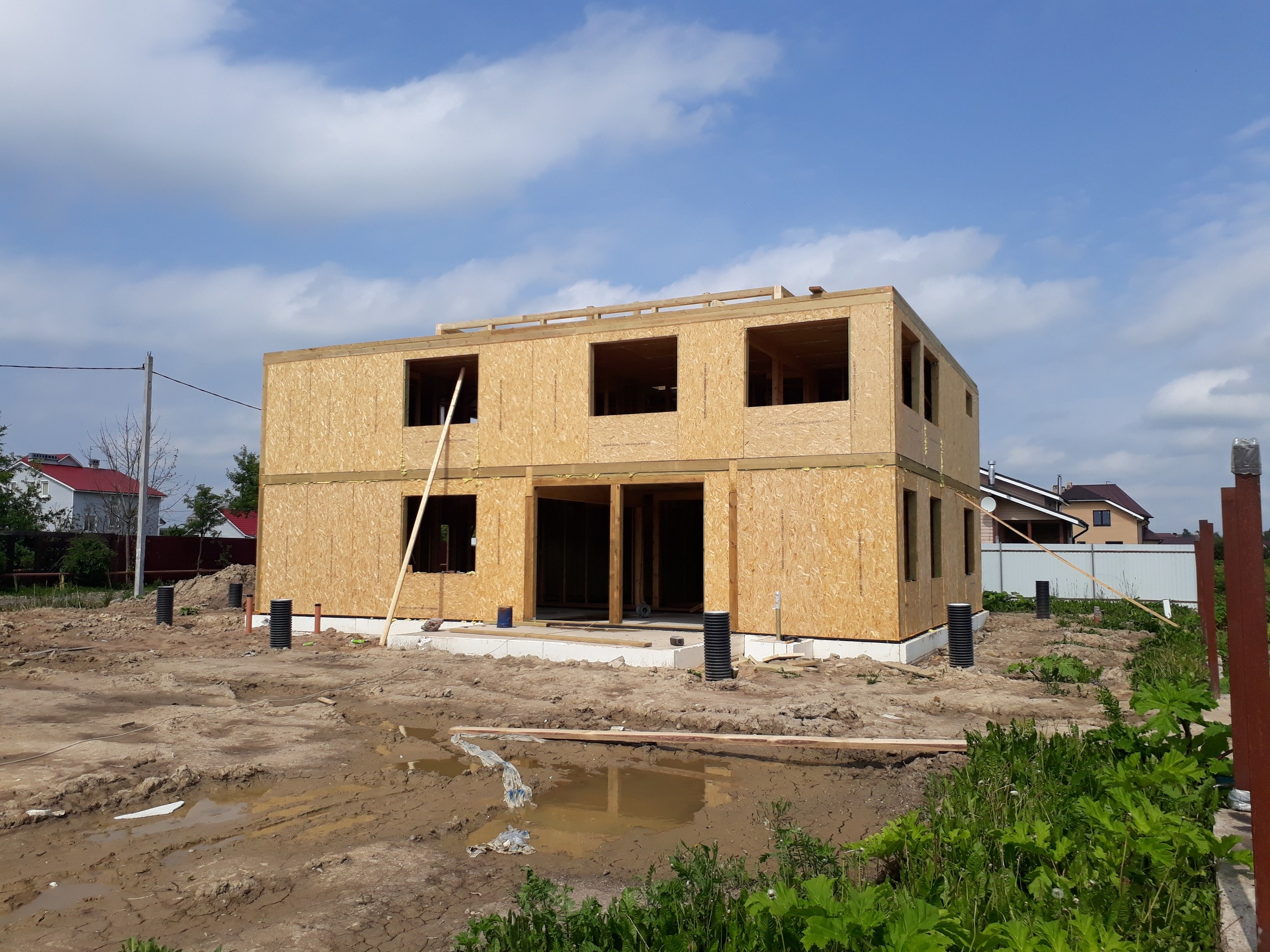 фото дома из сип панелей №9 коммунар