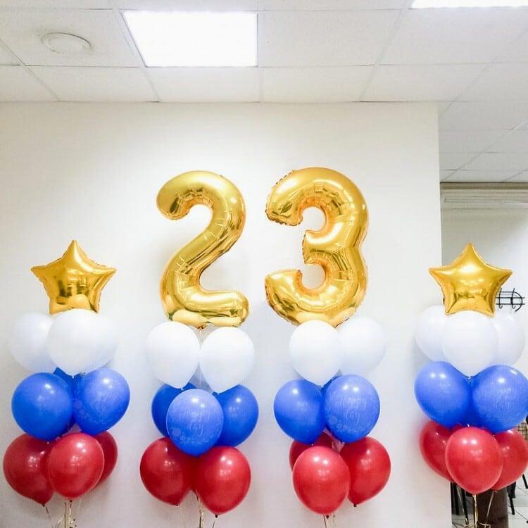 Набор из шаров на 23 февраля №17