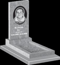 Прямой классический памятник из мрамора