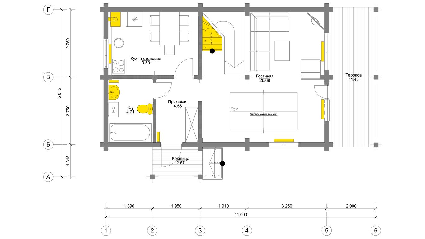 План первого этажа Ingolstadt 1.0 (Дом Ингольштадт 1.0)