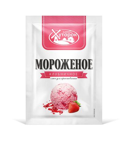 Картинка Мороженое БАБУШКИН ХУТОРОК клубничное