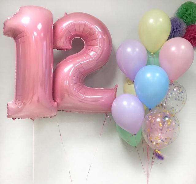 Букет шаров шаров на день рождения 12 лет