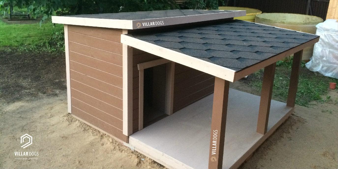 Дом для собаки с тамбуром и верандой под крышей | Фотографии | VillarDogs