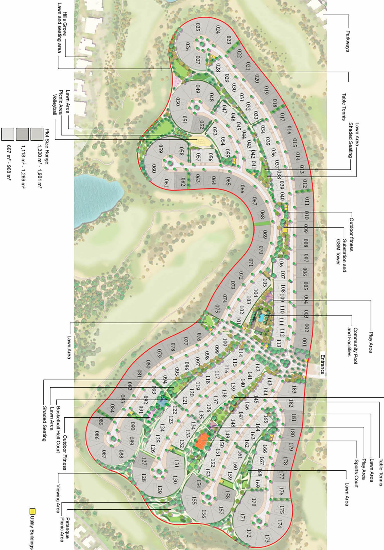 Emaar Emerald Hills Plots at Dubai Hills Estate Master Plan