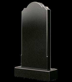 Фигурный гранитный памятник со срезанными углами сверху