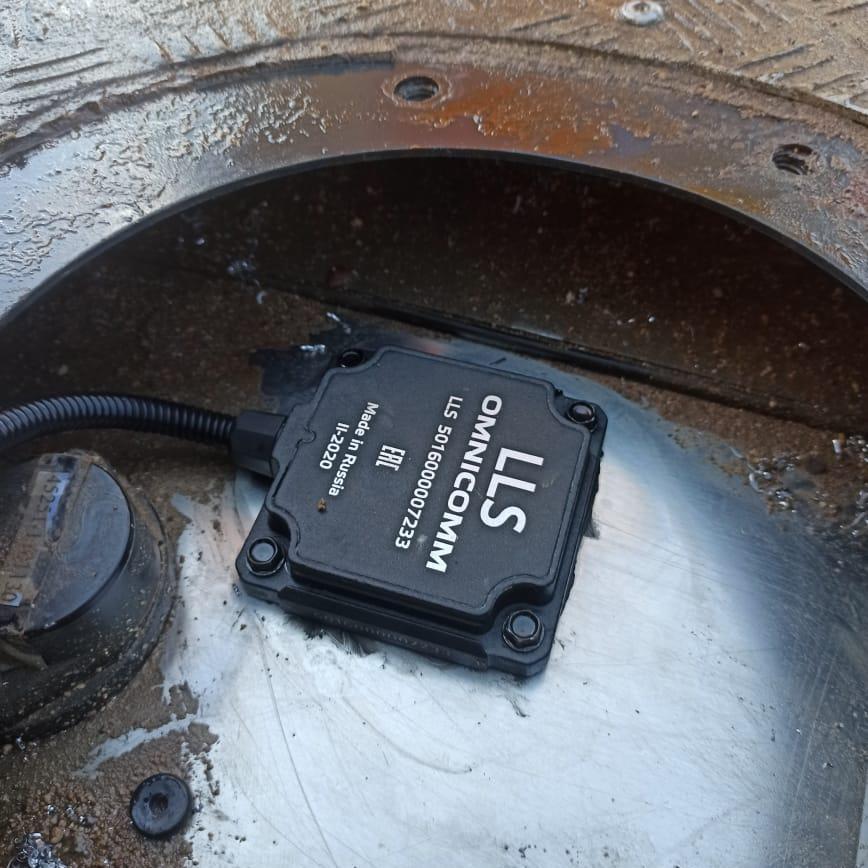 Установка датчика топлива на ТОНАР