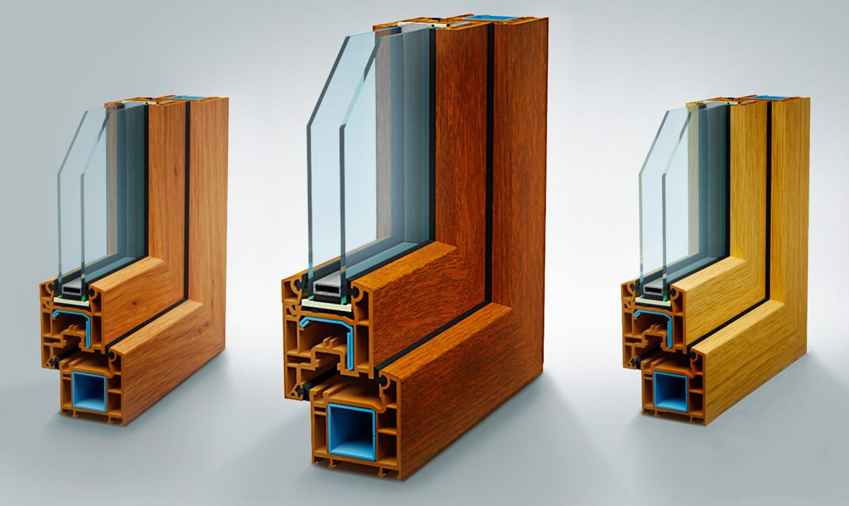 Ламинированные окна REHAU