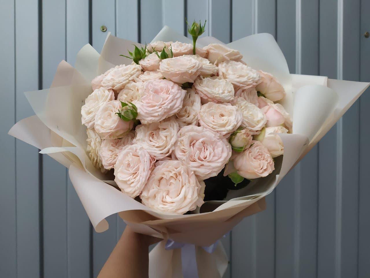 15 пионовидных роз Бомбастик