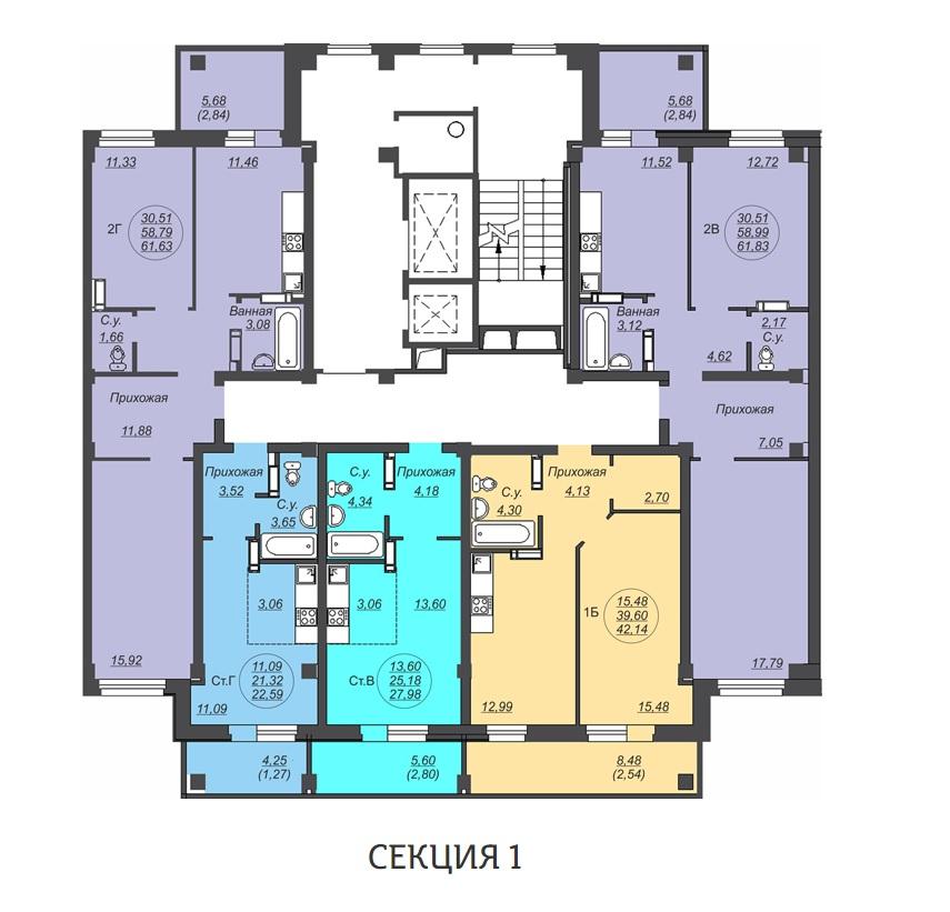 Типовой этаж Петухова 95/4 стр. Дом 3