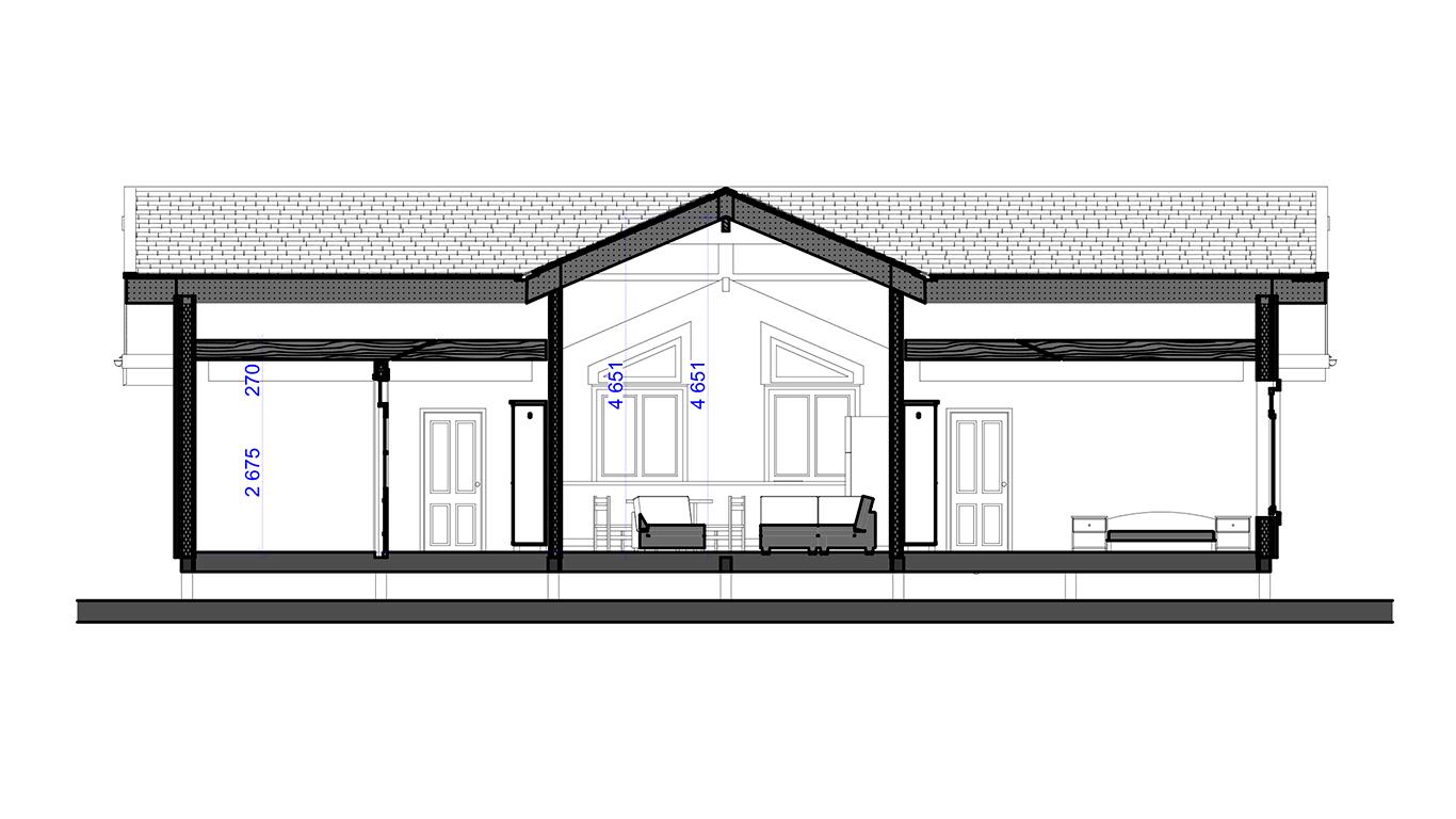 Вариант исполнения Oldenburg Rahmenhaus (Каркасный дом Ольденбург)