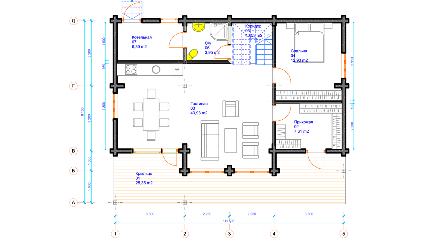 План первого этажа Leipzig 1.0 (Дом Лейпциг)