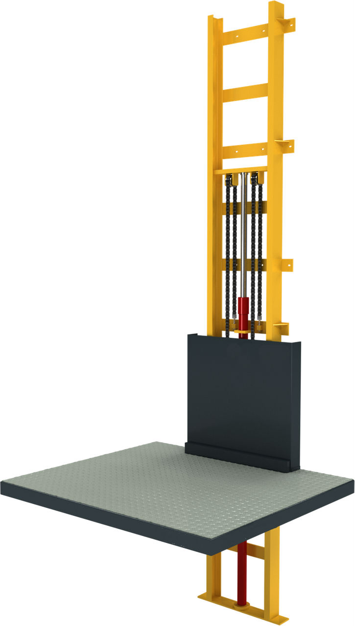 Грузовой консольный подъёмник