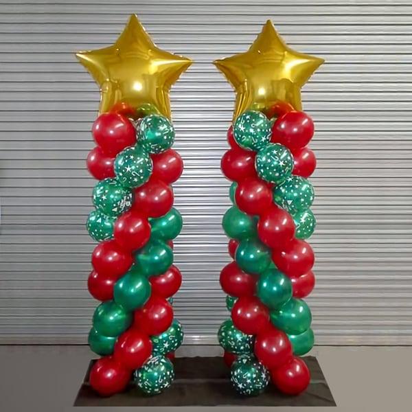 Новогодние Стойки-пойнты из шаров