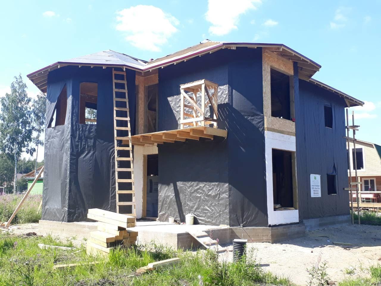 фото дома из сип панелей №9 коккорево